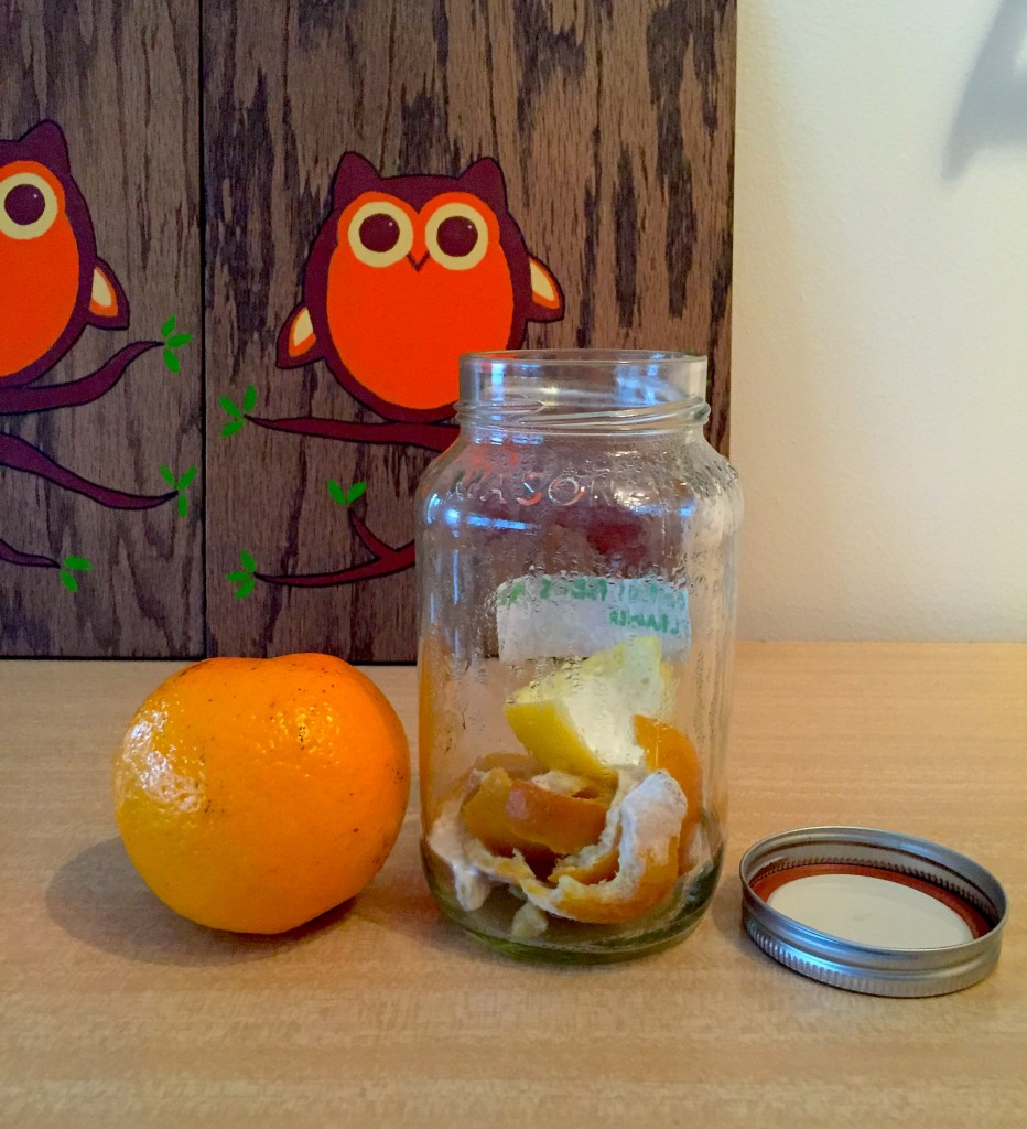 Orange with majson jar