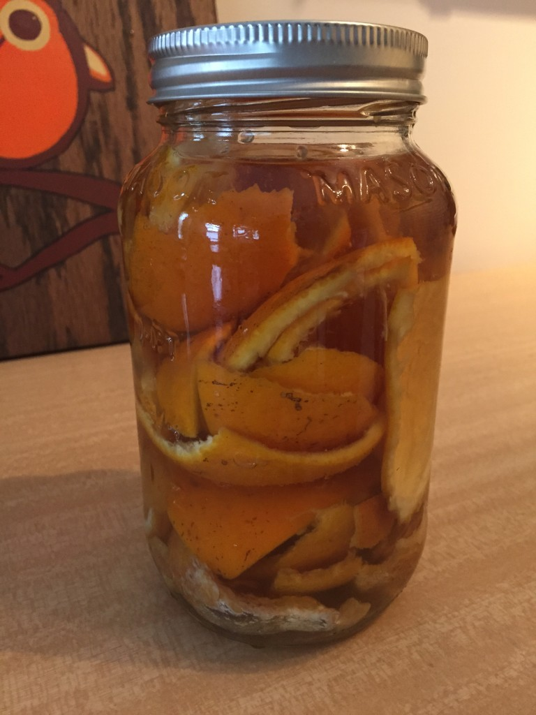 Vinegar and orange peels